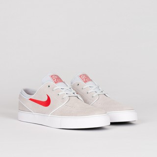 b6ff3195b9183 Nike SB Zoom Stefan Janoski - Pure Platinum/ University Red   Shopee  Philippines
