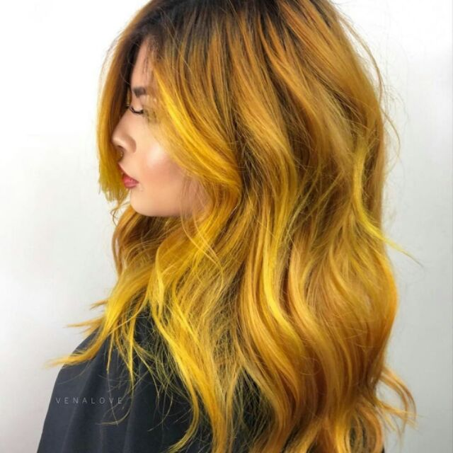 Gold Yellow Hair Color Tovch Color Shopee Philippines