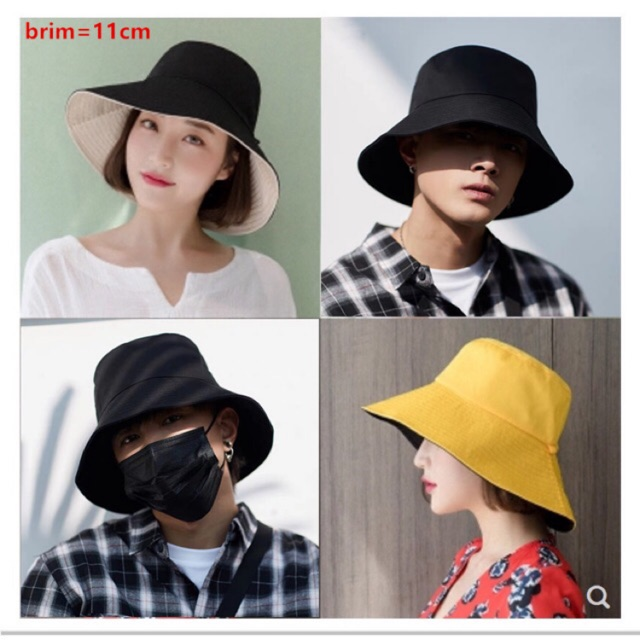 5c451bc34 HAT Double-sided Fisherman Hat Female Korean Outdoor Hat
