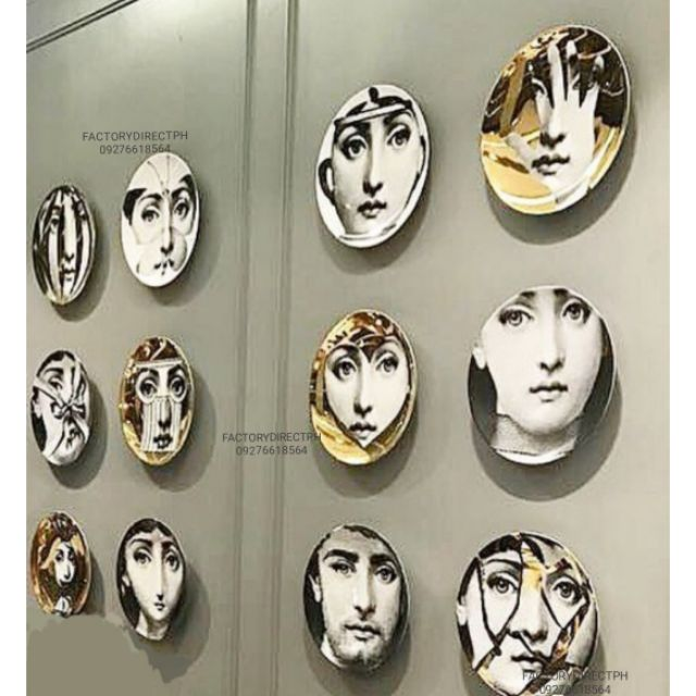 Ins Fornasetti Wall Decor Plates