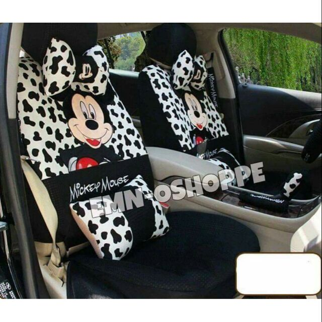 Mickey And Minnie Mouse Car Seat Cover Set4 2 Design