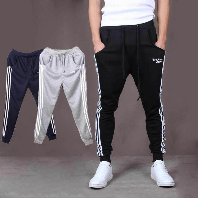 Mens Casual Jogger Dance Sportwear Baggy Harem Slacks Pants
