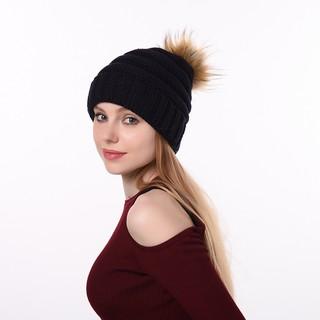 e1a2249383b Autumn winter new knit hat outdoor travel warm hat fashion wild ...
