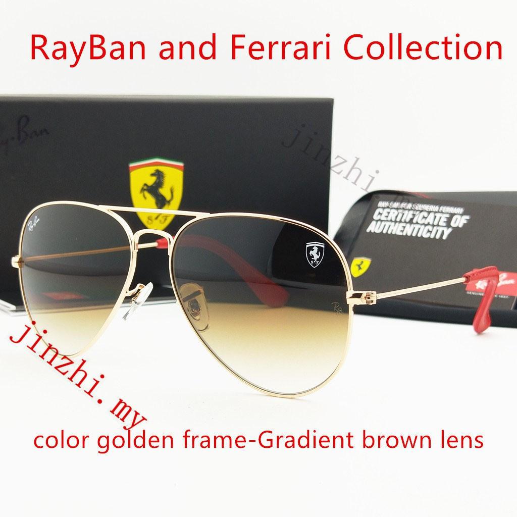 61c2794530 Ray-Ban Ferrari Series Aviator Metal Sunglass RB3025 G15Lens ...