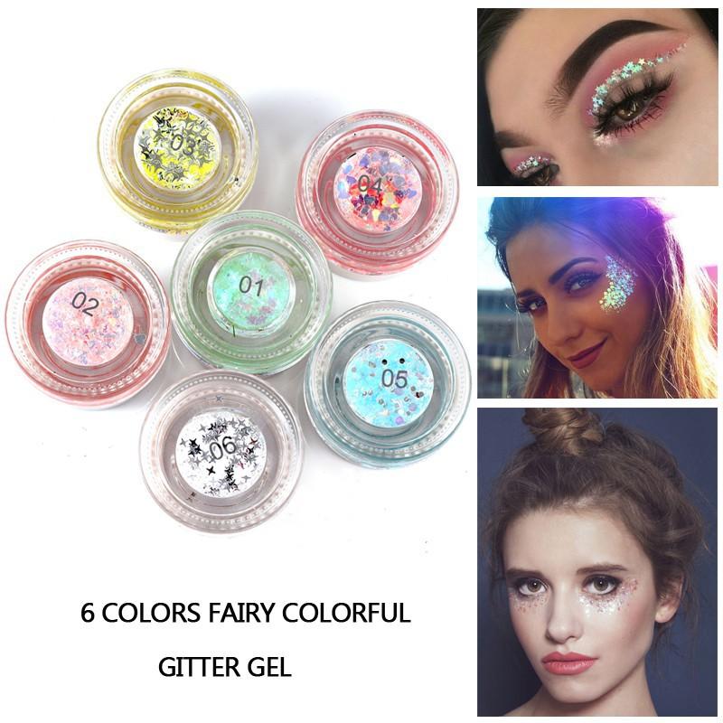 Diy Makeup Eyebrow Face Body Art Adhesive Crystal Glitter Jewels Eye Tattoo Shopee Philippines