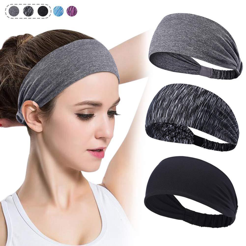 Women Stretchy Soft Fitness Yoga Gym Workout Headband Hair Wrap Sweat Absorb
