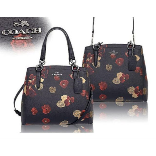 d0554a417759 🌺COACH HALFTONE FLORAL PVC CANVAS MINETTA CROSSBODY BAG