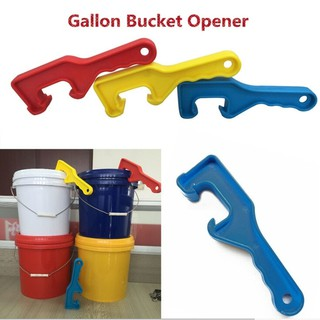 Household Gallon Bucket Pail Oil Can Lid Plastic Opener Opening Tools Yellow