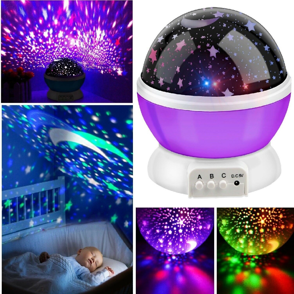 2 Pieces Romantic Auto Roof Star Projector Lights USB Night Light Projector Mini Disco Stage Light Atmosphere Light for Birthday Parties Stage Lighting Christmas Disco Decorations