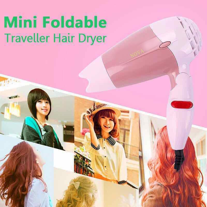 NOVA Foldable Mini Travel Hair Dryer Compact Blower  a7a2d79100