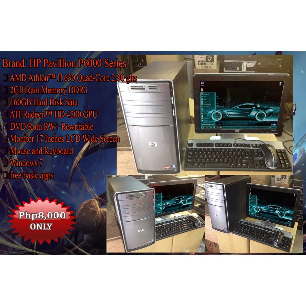HP Pavillion P6000 Series