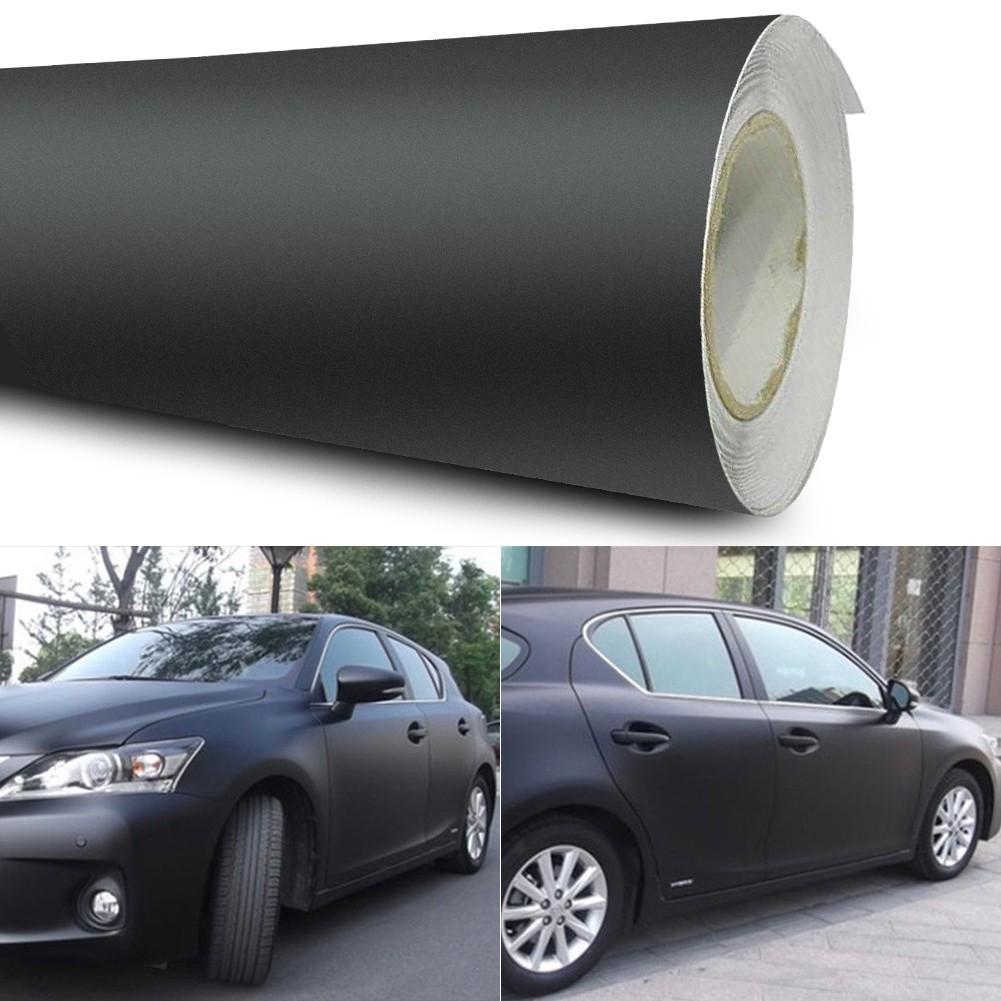 """12*60/""""Matte Black Vinyl Film Wraps Car DIY Stickers Vehicle Decal 3D Bubble New"""