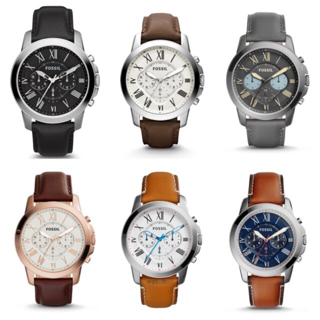 Fossil Watch Leather 44mm
