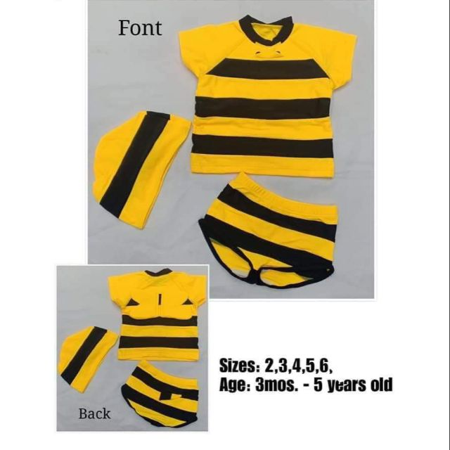 99444440f4d88 Bee Swimsuit for baby | Shopee Philippines