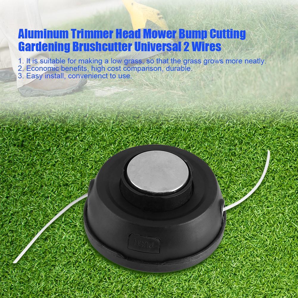 1pc Universal Trimmer Head Aluminium Strimmer Head Trimmer Heads String Grass Brush Cutter Garden Accessory Lawn Mower Garden Power Tools