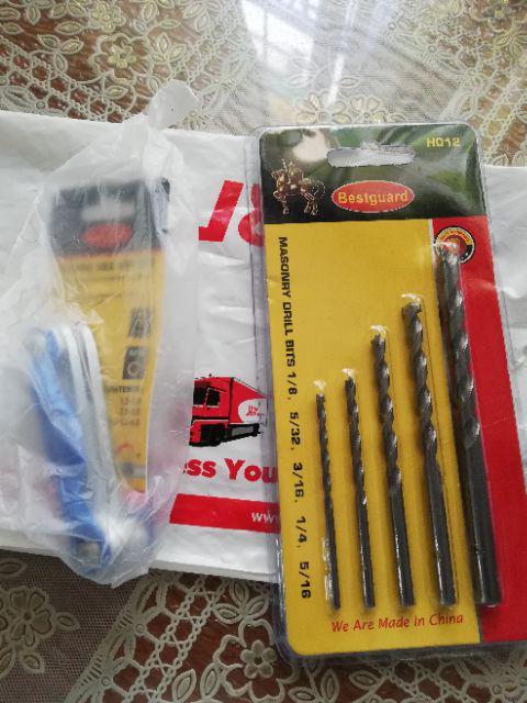 Bosch Screwdriver Bit Silver Set of 49 Piece Drills For Wood Masonry Metal Kit