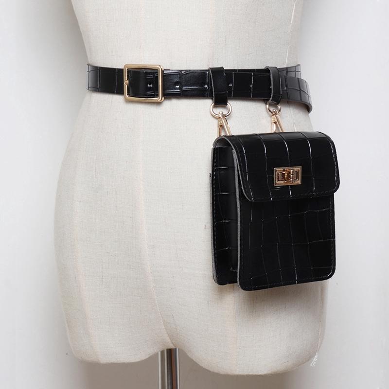 Leather Hip Bag Fanny Packs Women Waist bag Black Hip Bag Black Fanny Pack Belt Bag Leather Pouch Bag