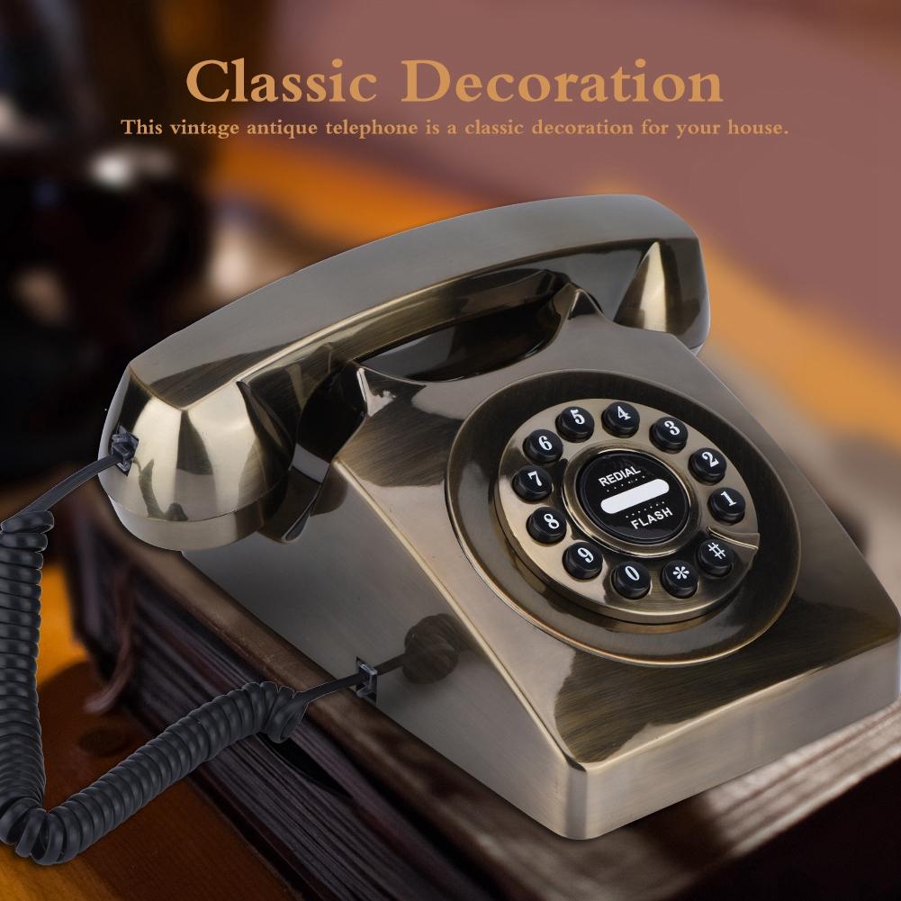 Vintage Retro Antique Phone Wired Cored Landline Telephone Shopee Philippines