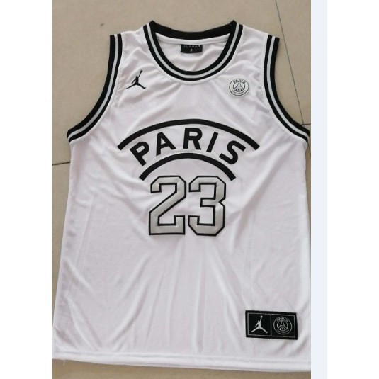 best website 40998 c0eea un Jordan grand paris Michael Jordan NBA Jersey #23 white