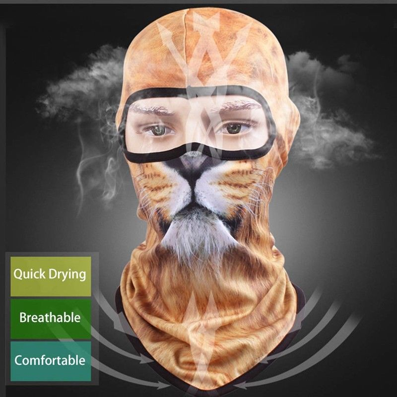 Hot Sale 3D Animal Outdoor Bicycle Cycling Ski Hat Balaclava Full Face Mask