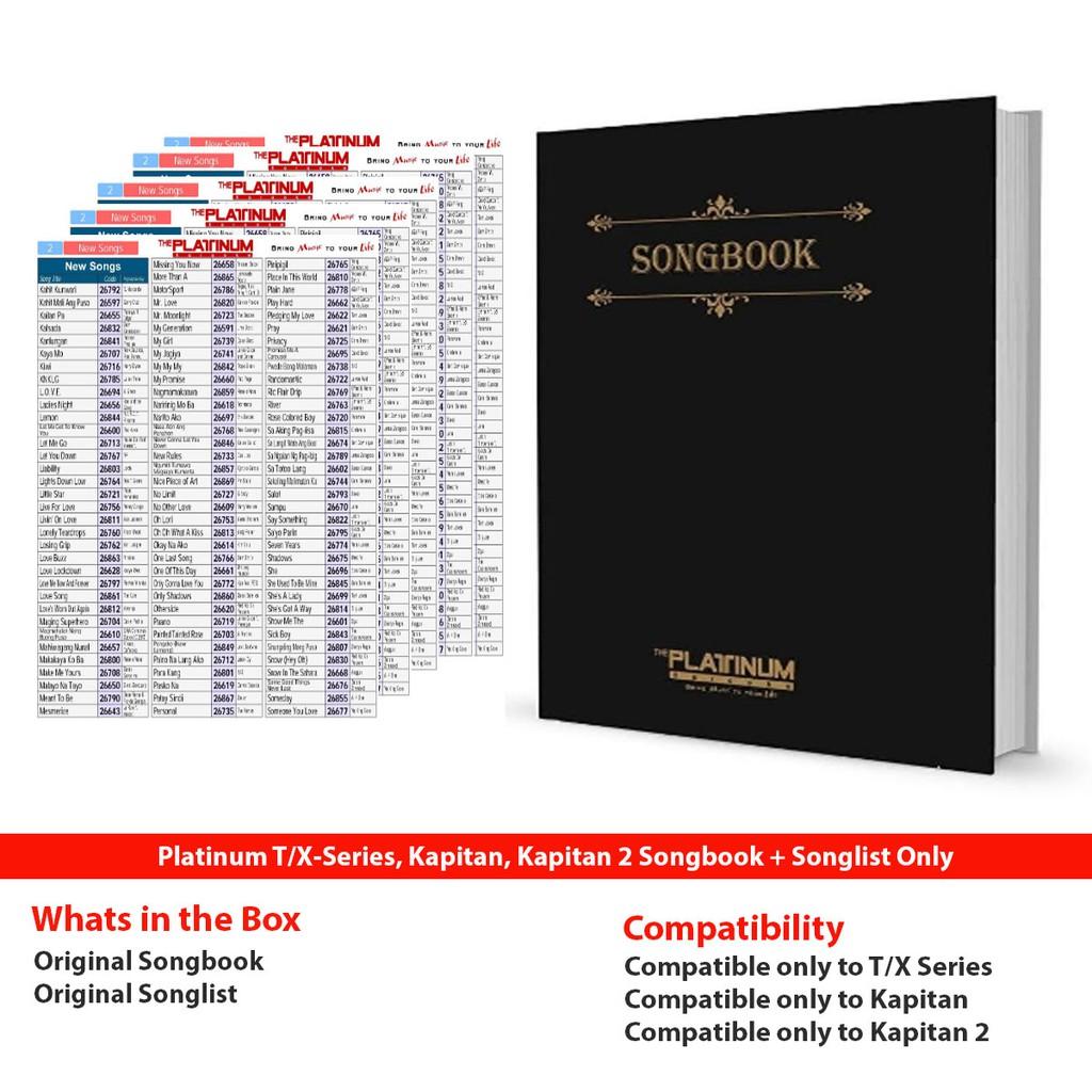 PLATINUM SONGBOOK T-SERIES/ KAPITAN/ X-SERIES