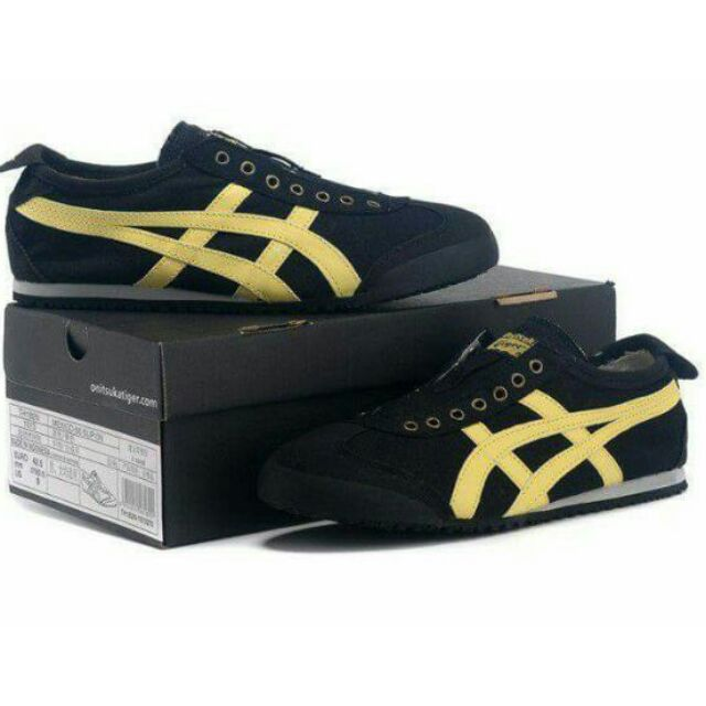 low priced fae11 7a686 Onitsuka Tiger Slip-On Black/Yello