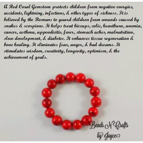 Anti Usog Coated Red Coral Bracelet For Babies Kids