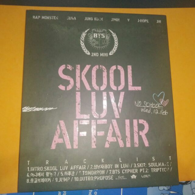 BTS ALBUM: SKOOL LUV AFFAIR