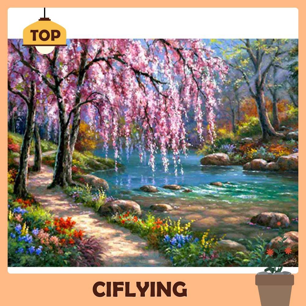 5D DIY Full Drill Diamond Painting Landscape Art Picture Cross Stitch Mosaic Kit