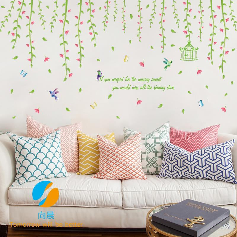 Creative Wallpaper Stickers Bedroom Warm Romantic Full House Flower Living Room Room Background Wall Shopee Philippines