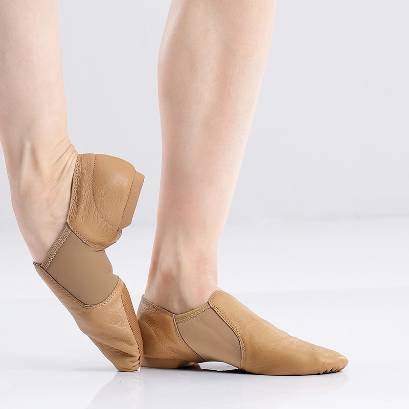 Professional Unisex Genuine Leather Soft Jazz Dance Shoes Indoor Dancing Shoes