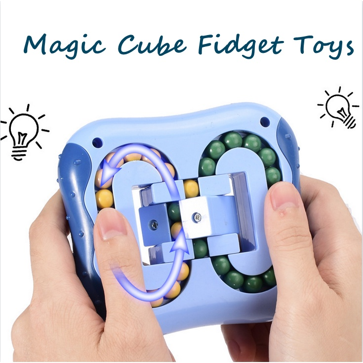 Magic Cube Fidget Toys,Rotating Magic Bean,Toys for Kids/Adult,Spinning  Magic Bean Game,Unisex Magic Bean IQ Game Toys can Improve Thinking  Ability(Blue)   Shopee Philippines