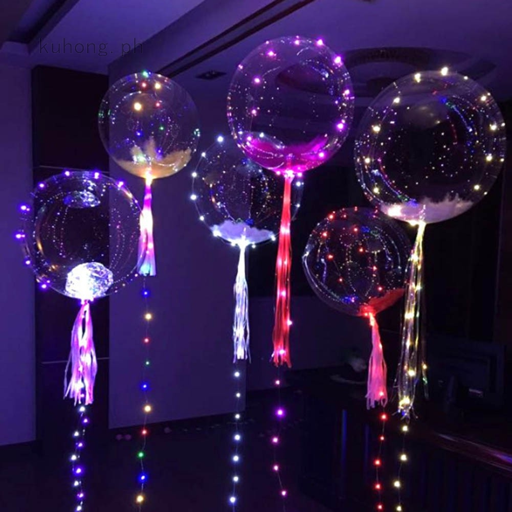 18 inch Luminous Led Balloon Transparent Clear Round Bubble Christmas Decor