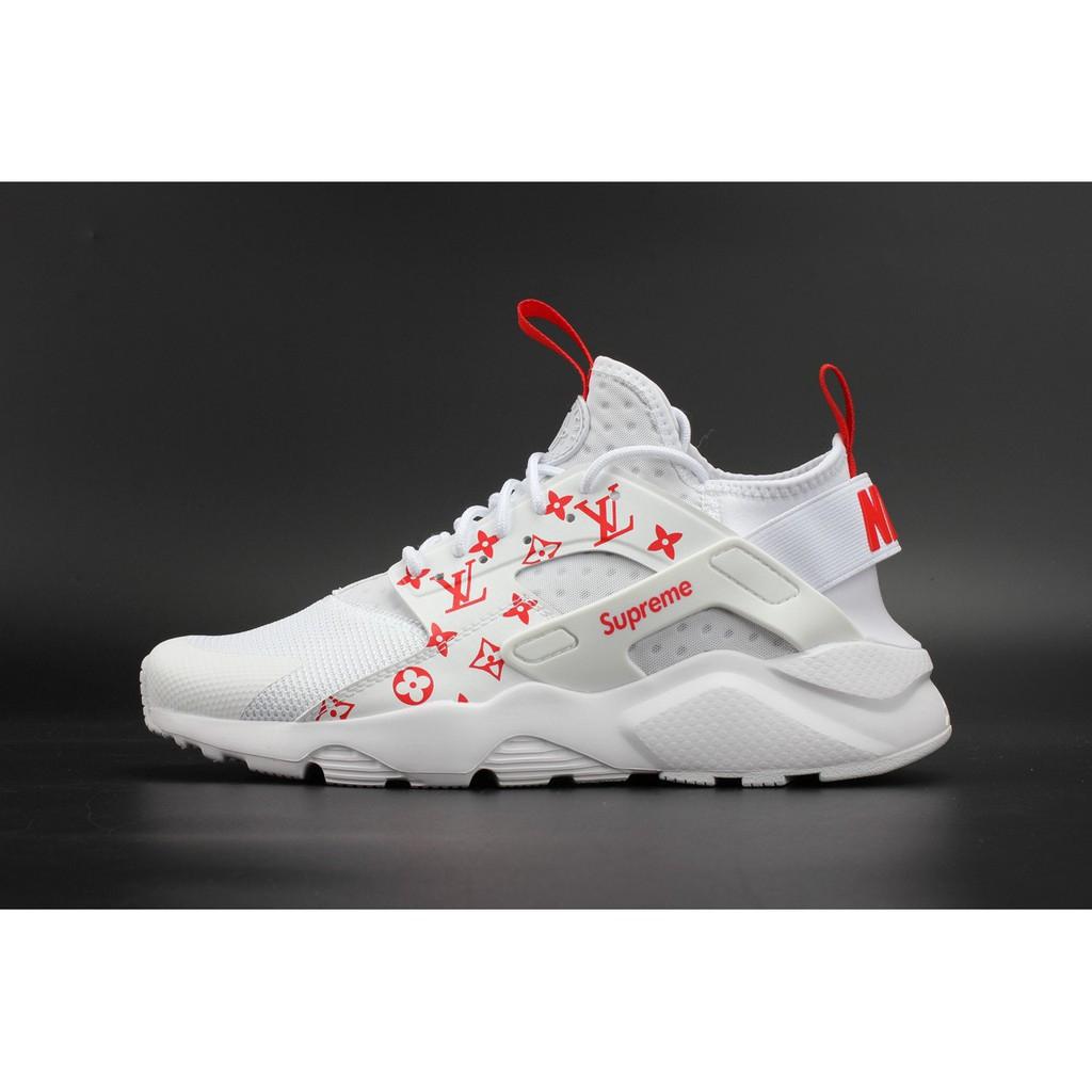 quality design b87d0 ffd78 Supreme x Nike Air Huarache Run Ultra White Red