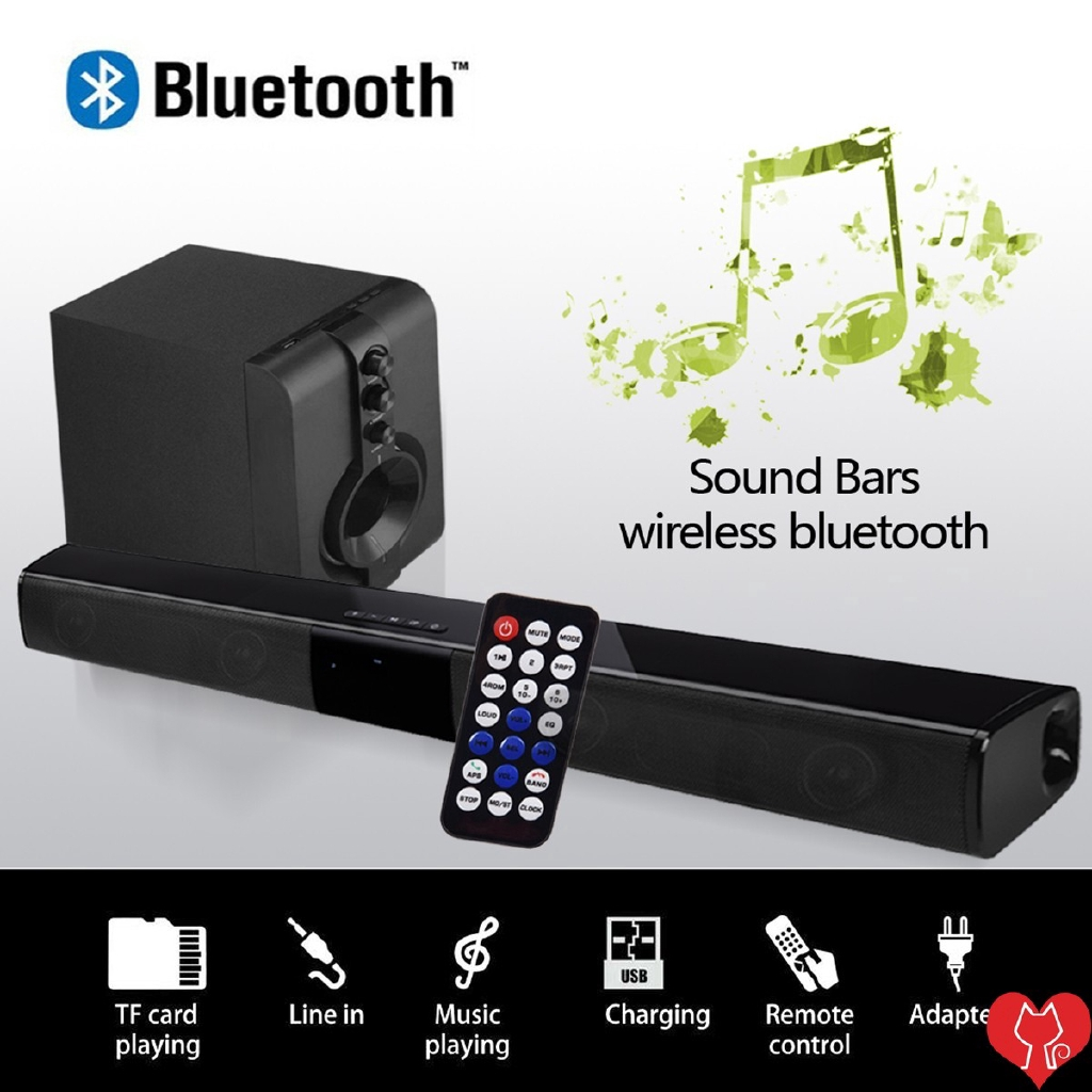 4 Trumpet 5W Speakers Strong Bass Sound Bar-28B Wireless Bluetooth Audio Speaker