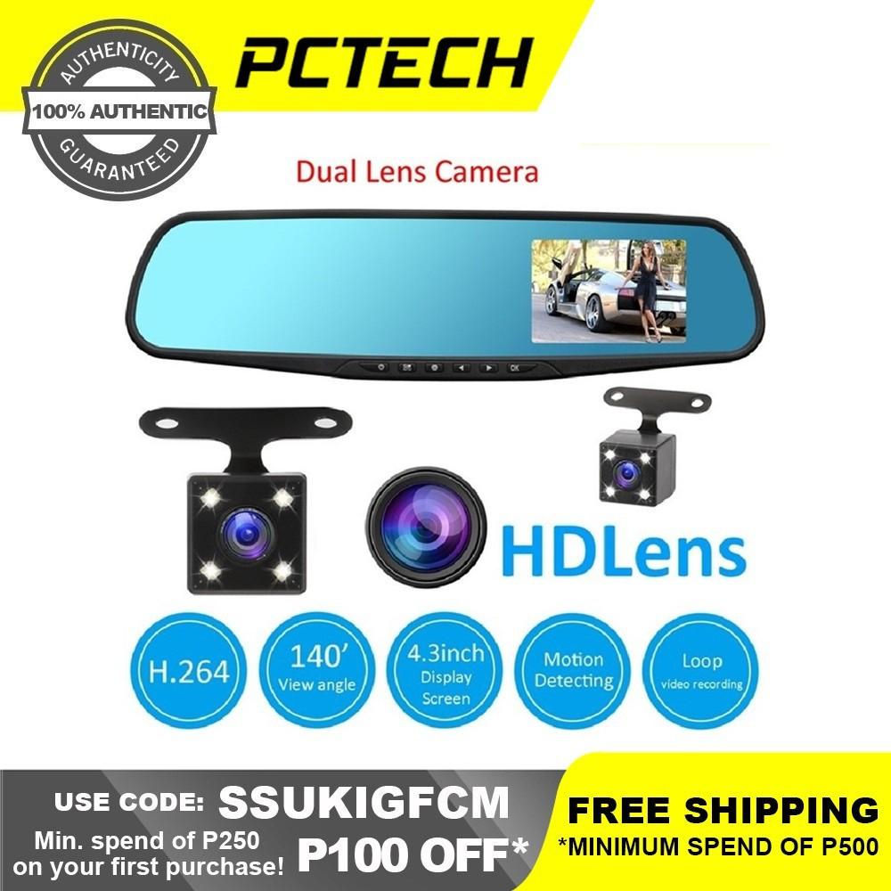 Car 1080 HD 4 3'' Video Recorder Dual Lens Dash Cam