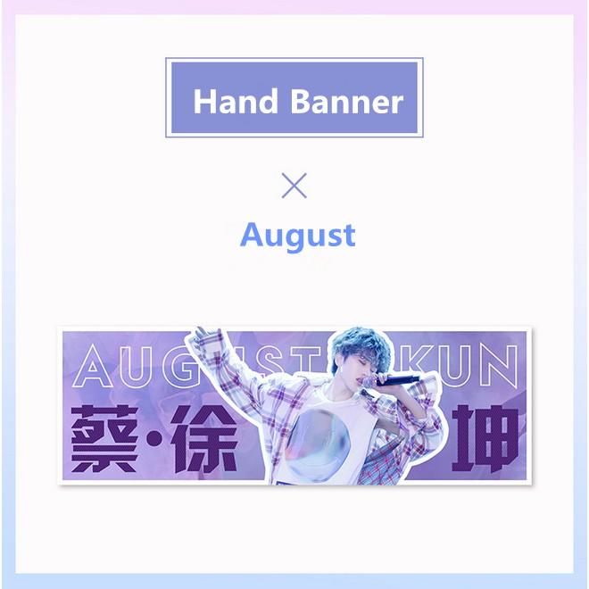 KPOP Nine Percent Concert Hand Banner August Slogan Fans Support