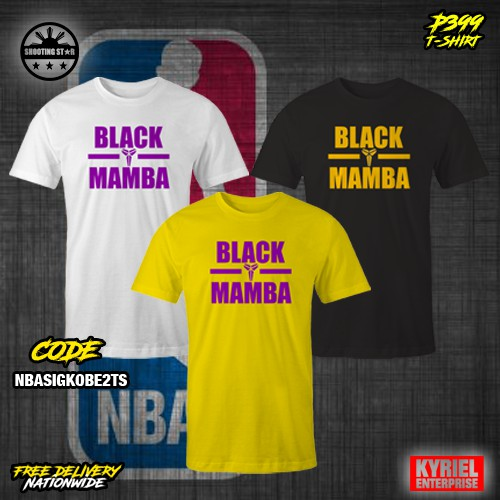 cc9105766 NBA Black Mamba Kobe T-Shirt | Shopee Philippines