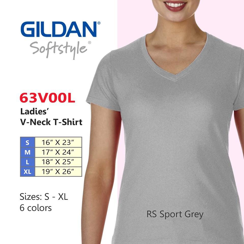 2e66d5e859c Gildan® Ladies V-Neck T-Shirt HELICONIA