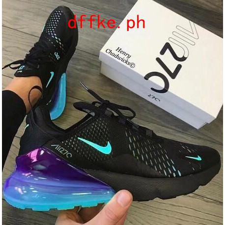 NIKE AIR MAX 270 new casual scarpa black light blue bottom