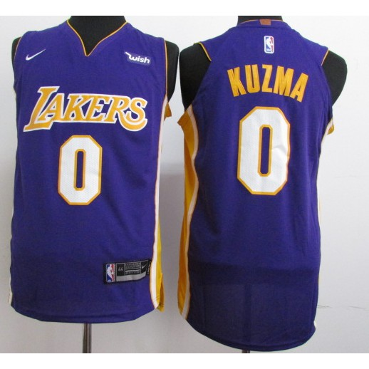 reputable site 846fa d347a whites Nike Los Angeles Lakers Kyle Kuzma NBA Jersey #0 new