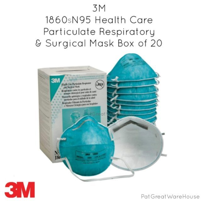 3m 1860 n95 respirator and surgical mask 20 count
