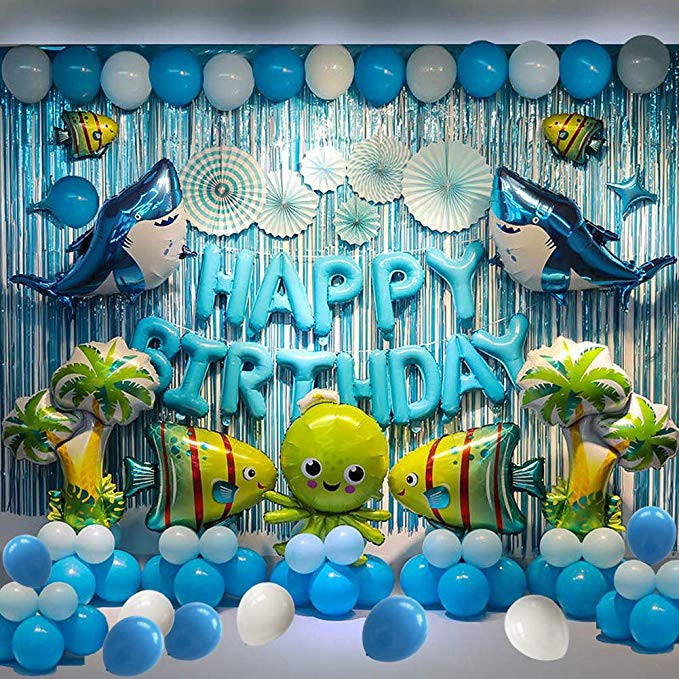Sea Animal Balloon Theme Party Supplies Birthday Party Background Decoration Shopee Philippines