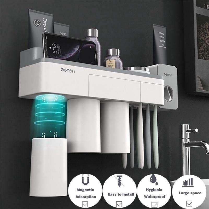 Bathroom Wall Mounted Toothbrush Holder, Wall Mounted Bathroom Cup Dispenser