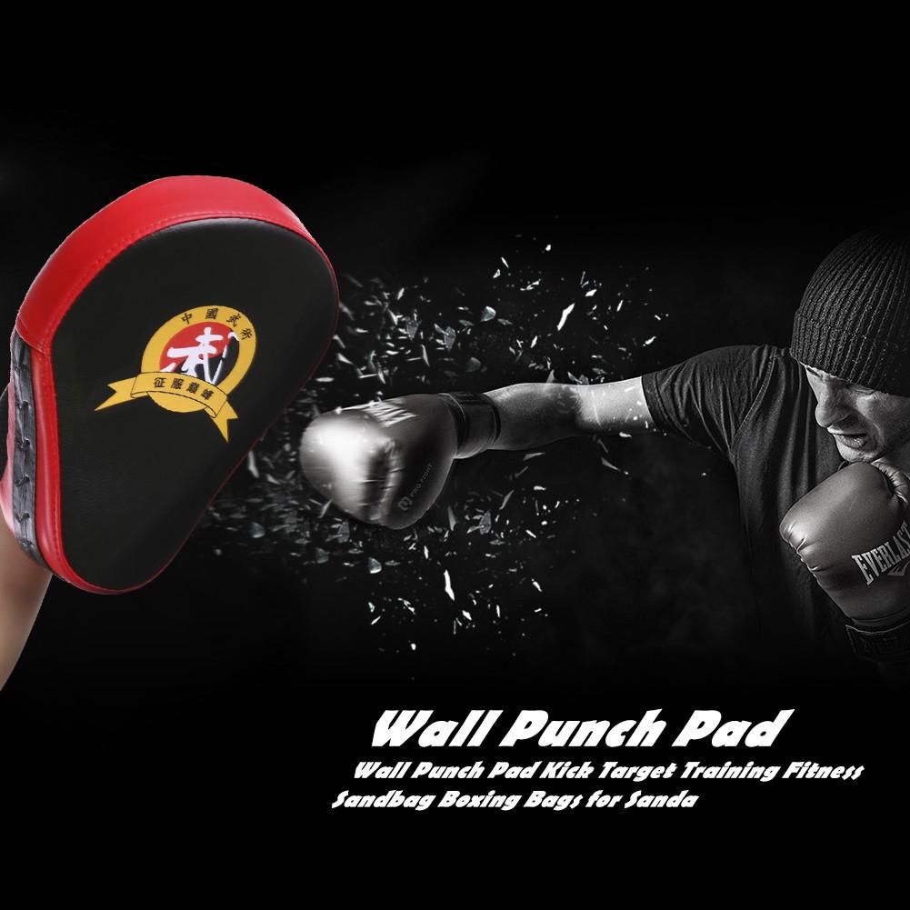 PU Boxing Mitts Training Target Focus Punch Pads and Karate Kicking Gloves Black