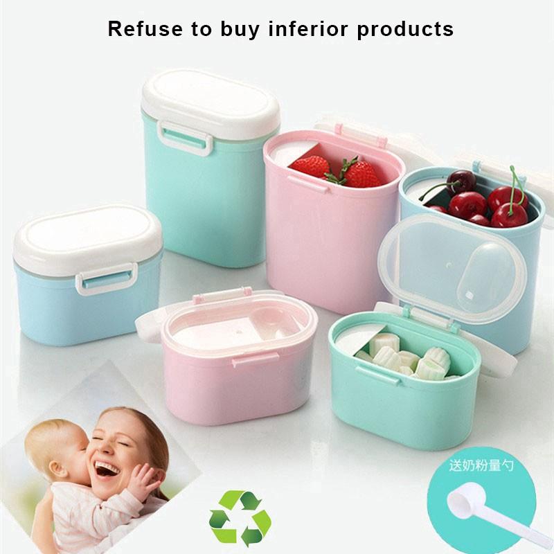 BPA Free,Pink Milk Powder Dispensers Sealed tank large capacity Milk Powder Pot Box Anti-UV Airtight Baby Portable Formula Milk Storage Container for Infant Toddler Children