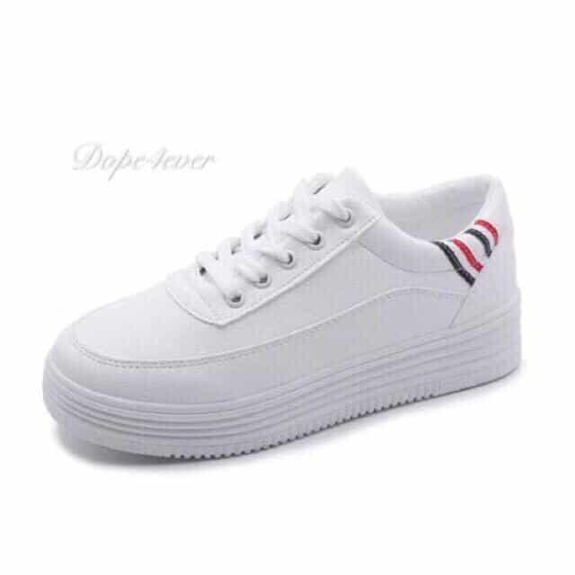 White Shoes Korean Rubber Shoes 2 cm High