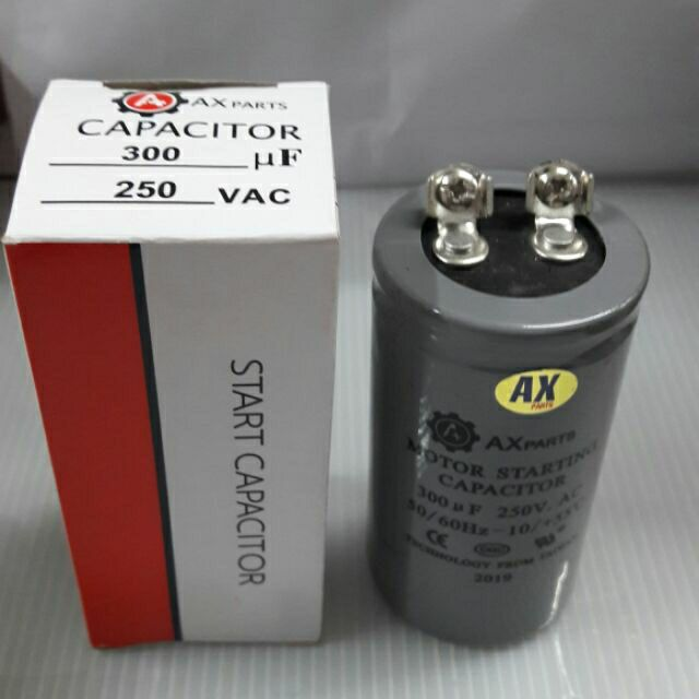 Ax Motor Starting Capacitor 300 Uf 200 250 Volts Shopee Philippines