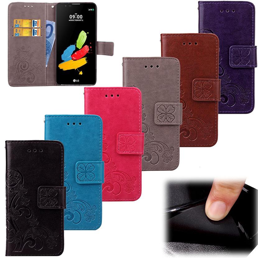 LG Stylus 2 Plus Case 3D Flower Wallet Leather Filp Cover