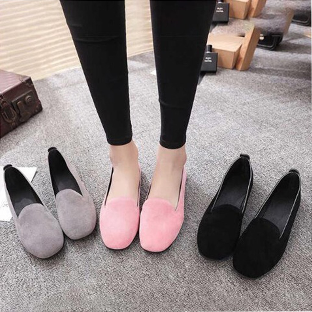 Women Office Ladies Slip On Flat Shoes Loafers Casual Shoes Dress Shoes